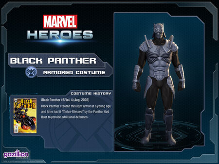 Costume blackpanther armored