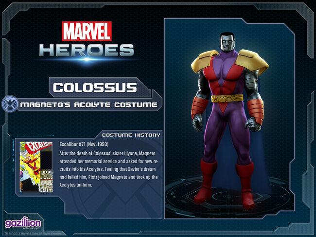 Costume colossus magentosacolyte