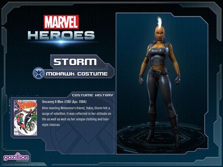 Costume storm mohawk