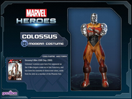 Costume colossus modern