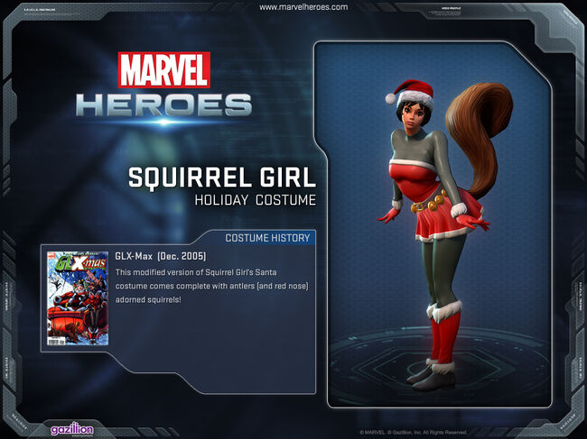 Costume squirrelgirl holiday