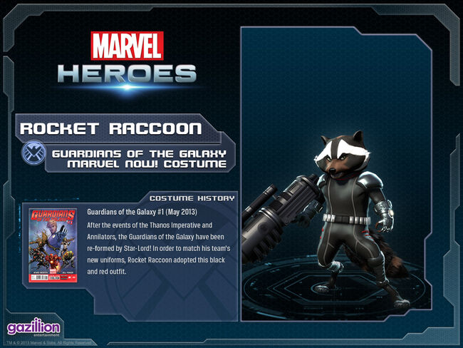 Costume rocketraccoon guardians