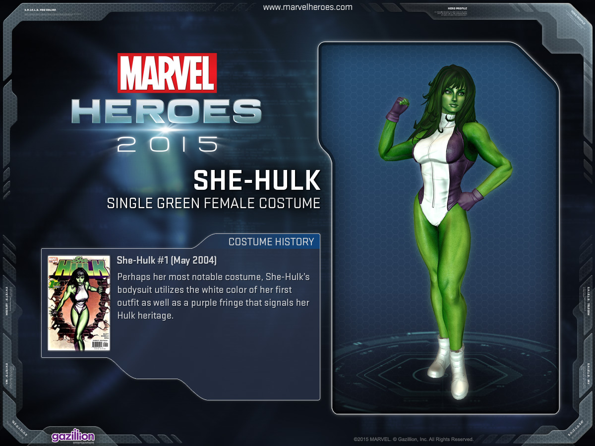 Costume shehulk singlegreenfemale & She-Hulk/Costumes | Marvel Heroes Wiki | FANDOM powered by Wikia