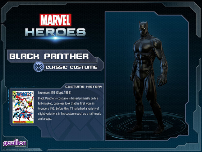 Costume blackpanther base