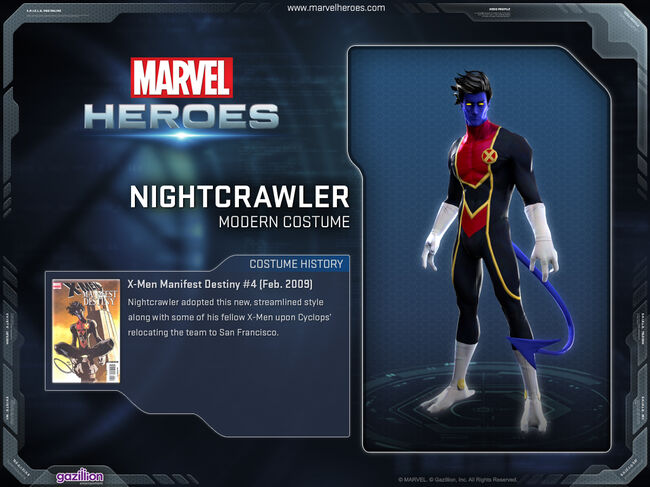 Costume nightcrawler modern