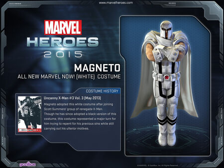 Costume Magneto allnewmarvelnow white