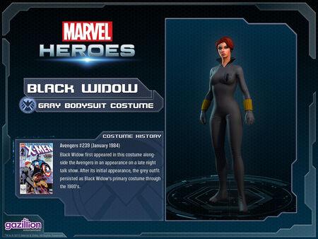 Costume blackwidow gray
