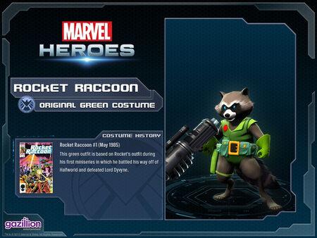 Costume rocketraccoon originalgreen