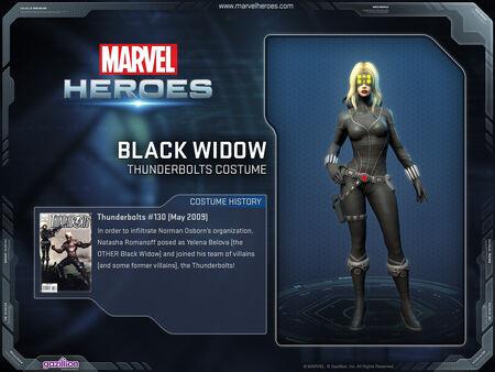 Costume blackwidow thunderbolts