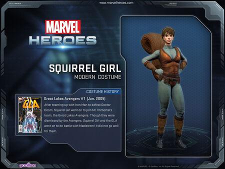 Costume squirrelgirl modern