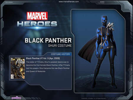 Costume blackpanther shuri