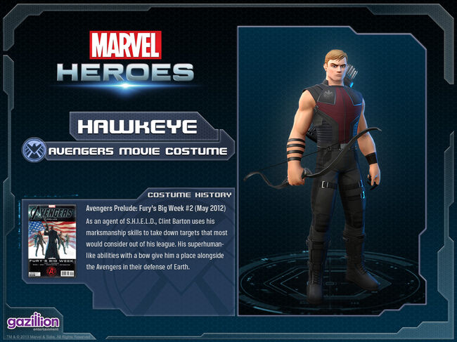 Costume hawkeye movie