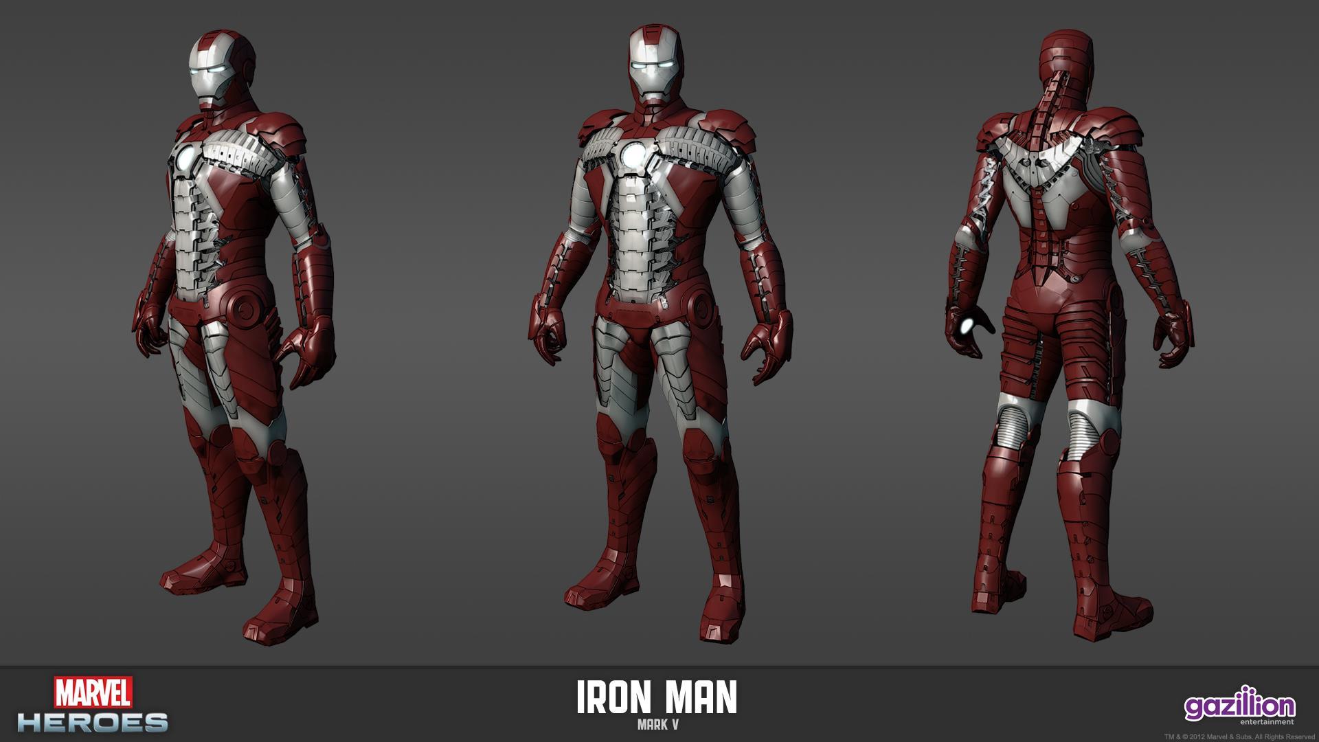 Image - Iron Man Mark V Model.jpg | Marvel Heroes Wiki ...  Image - Iron Ma...