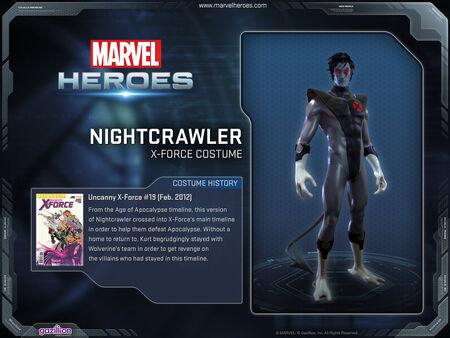 Costume nightcrawler xforce