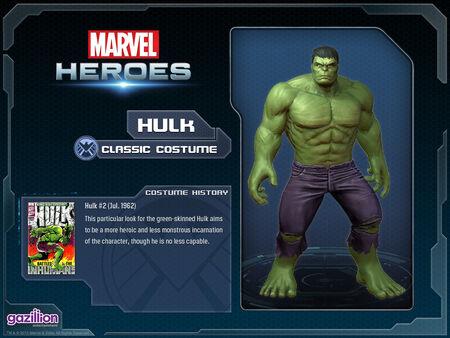 Costume hulk classic