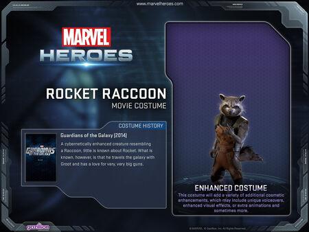 12x9 CostumePage RocketRaccoon GotGmovie