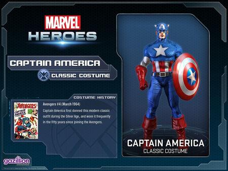 Costume captainamerica classic