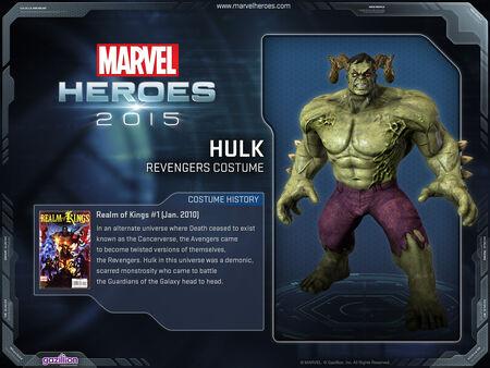 Costume hulk Revengers