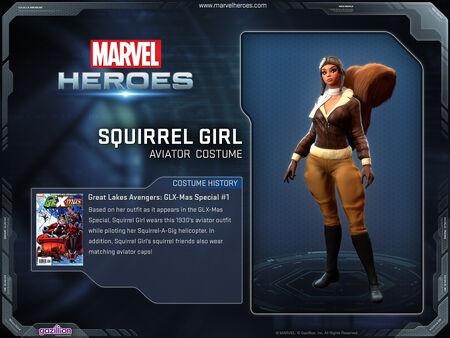 Costume squirrelgirl aviator