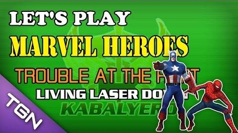 Let's Play Marvel Heroes - Trouble At The Raft - Living Laser Down