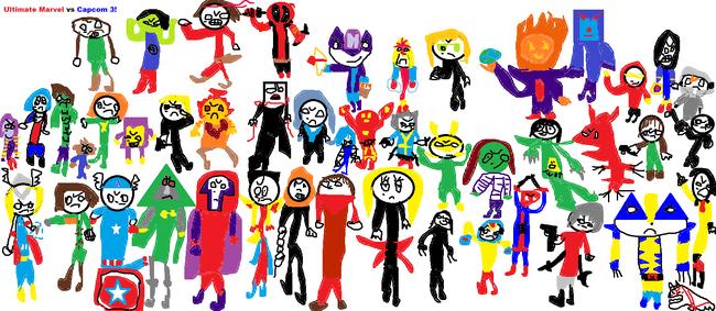 Ultimate Marvel vs Capcom 3 special painting