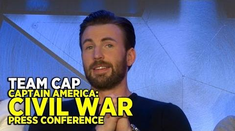 "FULL ""Captain America Civil War"" press conference (PART 2 TEAM CAP) with cast and directors"