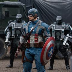 Captain America surrounded by <a href=