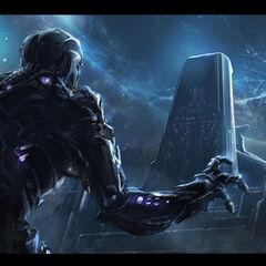 Concept art of Thanos' Throne