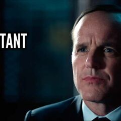 Promotional Banner with the Logo and Coulson.