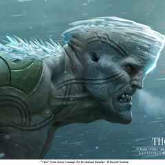 Conept art of a Frost Giant.