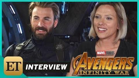 'Avengers Infinity War' Scarlett Johansson and Chris Evans (FULL INTERVIEW)