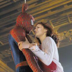 Spider-Man saves MJ.
