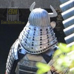 The Silver Samurai's armor on set.