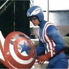 Captain America with his shield
