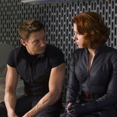 Hawkeye and Black Widow.