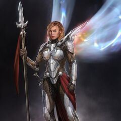 Unused concept art for Valkyrie.