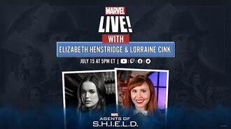 Elizabeth Henstridge Talks Marvel's Agents of S.H.I.E.L.D. New Season LIVE!
