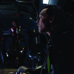 Loki with Cap & Iron Man.