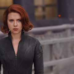 Black Widow eyes Banner as he arrives in New York