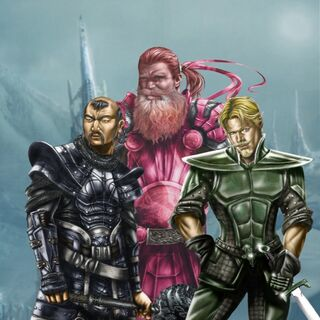 Concept art for the Warriors Three