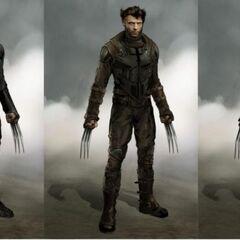Concept art of old Logan.