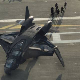 A team boards the Quinjet.