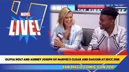 Olivia Holt and Aubrey Joseph of Marvel's Cloak and Dagger at SDCC 2018