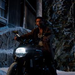 Logan arrives in Yashida's home village