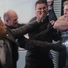HYDRA soldiers disguised as S.H.I.E.L.D. agents trying to capture Steve Rogers.