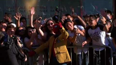 Tom Holland Makes an Entrance at the Spider-Man Homecoming Red Carpet Premiere