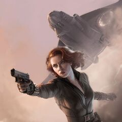 Black Widow artwork promo poster from Comic Con.
