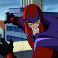 Magneto fights the Sentinel.