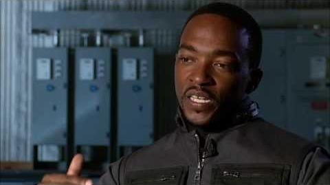 "Captain America The Winter Soldier Anthony Mackie ""The Falcon"" Official On Set Interview"