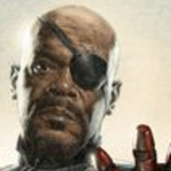 Nick Fury in Avengers Promo Art.